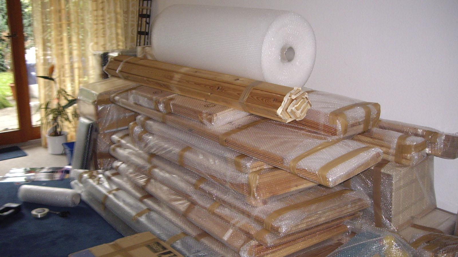 Vorbereitung der Packstücke